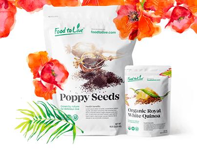 Food to Live — упаковка для органических продуктов