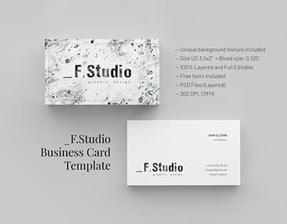 _F.Studio. Business Card Template