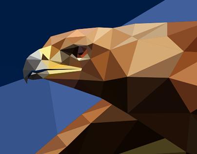LowPoly the bird of prey