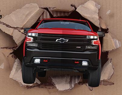 Chevrolet Silverado Amazon On-pack Advertising