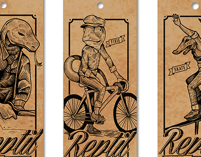 Label design for Reptil, clothing company