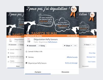 Affiche événement Facebook HaPy Saveurs