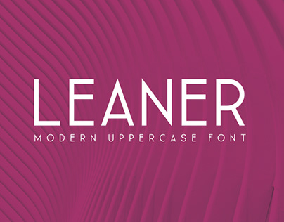 LEANER THIN - FREE FONT