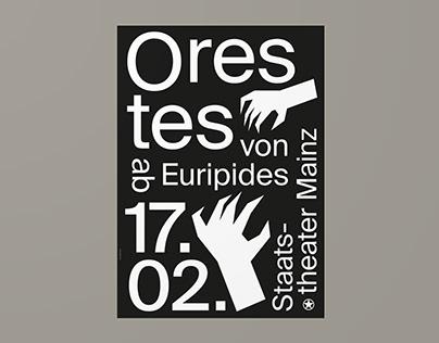 Staatstheater Mainz – Orestes (Poster)