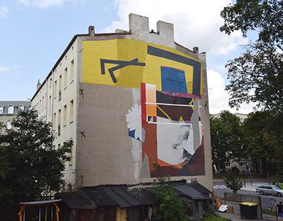 """""""Still life with Adler"""" mural"""