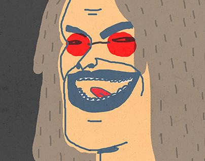 Illustrations of Aerosmith Steven Tyler