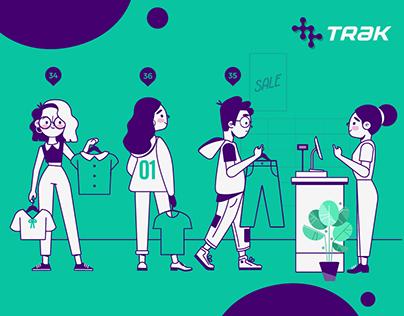 Fynd Trak | Website Brand Illustrations