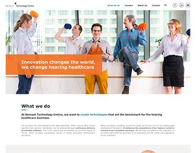 Demant Technology Centre - web design