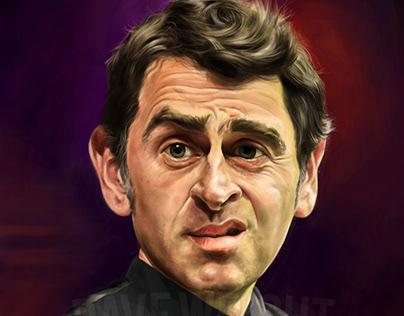 Ronnie O'Sullivan. Snooker Legend - caricature