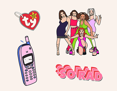 Instagram story GIF Stickers // 90s