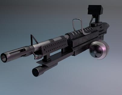 Gas powered gun