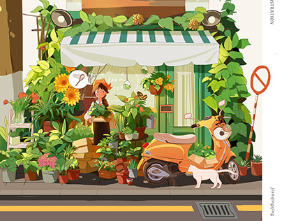 The flower shop 花店