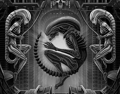 H.R. Giger Tribute - Illustration