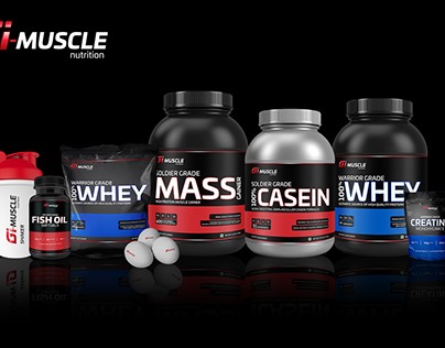 GI Muscle Healthcare Nutrition Packaging Design