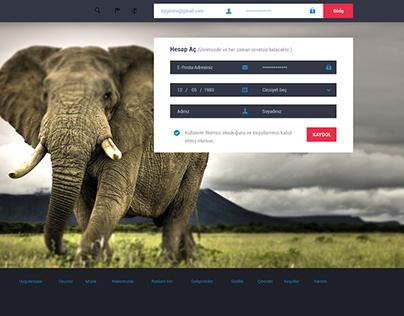 Gormollen Social Network Landing Page Psd Template