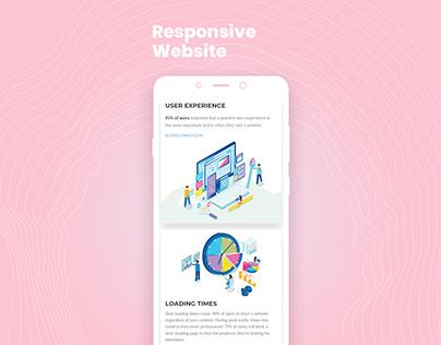 Responsive website screenshot