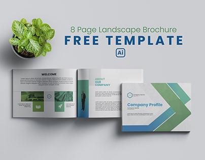 Landscape Brochure Free Template - Free Company Profile