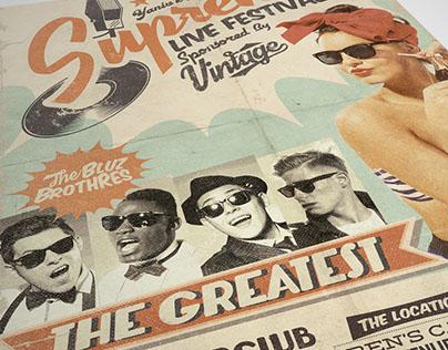 Supreme Retro 1950's Flyer