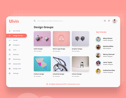 UI/UX Social Media Website for desigers