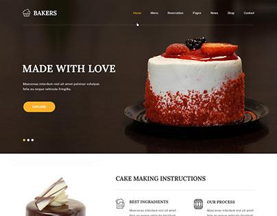 Free Bakers Shop WordPress Theme