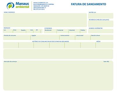 Contas de Água - Manaus Ambiental