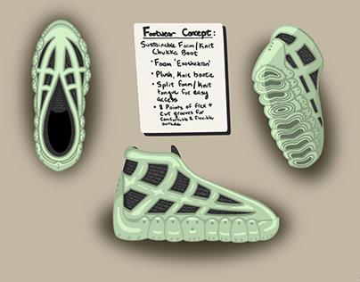 Footwear Concept - Sustainable Foam / Knit Chukka