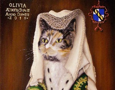 """Olivia - Oil on canvas panel - 14""""x18"""" - 2015/16"""