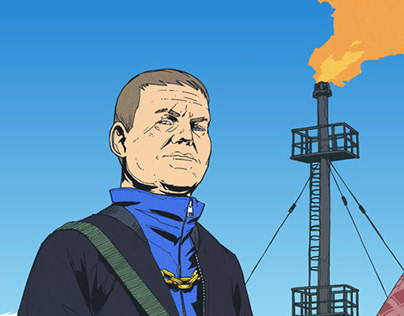 """Promo art for """"Siberian oil rush"""""""