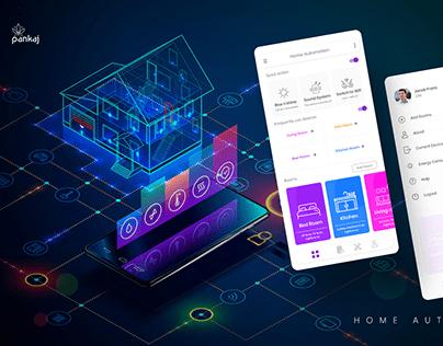 HOME AUTOMATION App UI Design