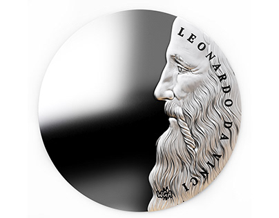 Coins model Leonardo da Vinci
