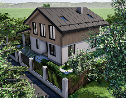 One family house exterior made with Twinmotion