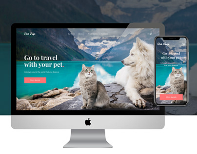 Landing page for Pet Trip