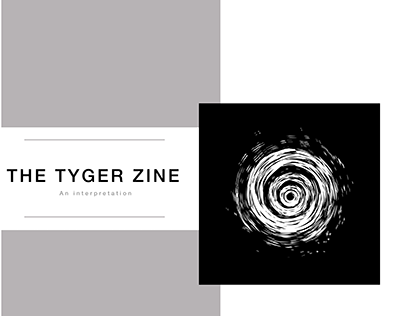 'The Tyger by William Blake' in the form of a zine
