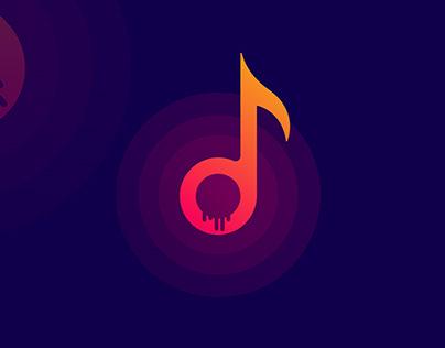 HORROR MUSIC PLAY MODERN LOGO