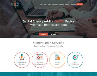 Website design for Web design and development company