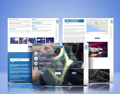 Center Car Wash - Web&graphic design + social media