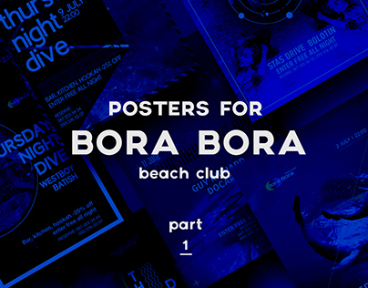 posters for series of parties  THURSDAY NIGHT DIVE