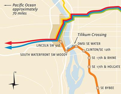Portland MAX map
