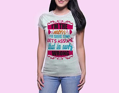 Mom t shirt design