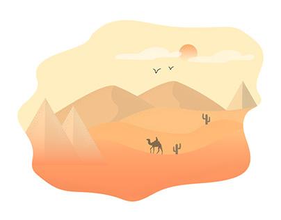Desert Vector Ilustration
