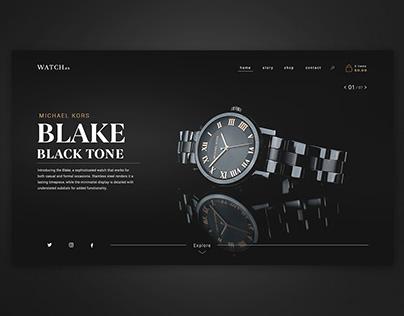 Watch brand website concept