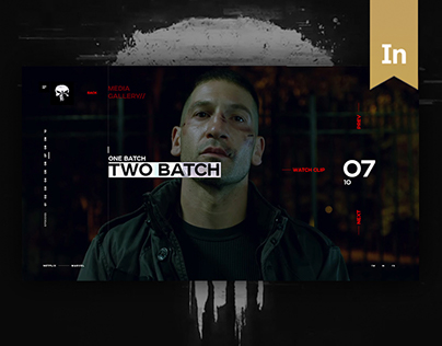The Punisher - Concept Microsite Design