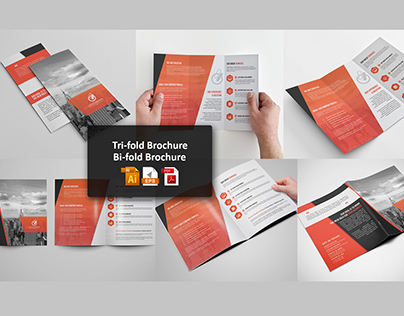 BiFold  Tri Fold Brochure Template On Behance