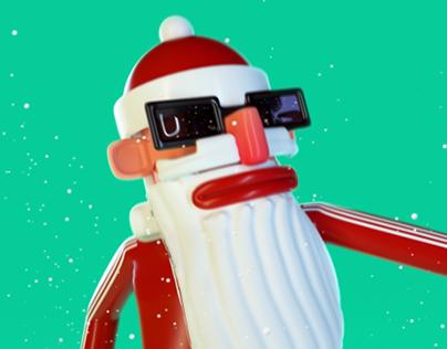 B-boy Santa