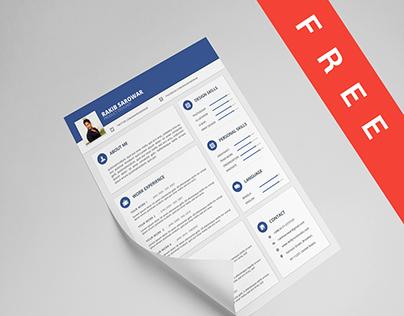 Material Style Resume/CV (Freebie)