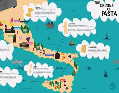 Illustrated Food Map