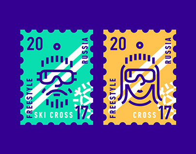 Ski Cross Freestyle Worldcup Russia (identity concept)