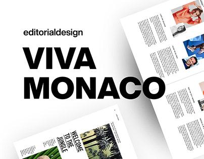 Editorial Design | Viva Monaco