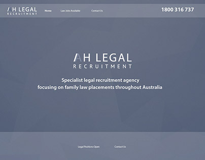 AH Legal Recruitment web design