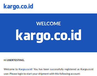 Email Template: All Kargo.co.id email